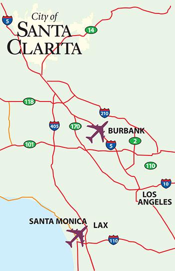 Santa Clarita Map